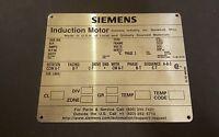 Siemens Blank Motor Tags