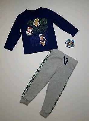 Sprout Star Boys Stripe T-shirt and Jogger Pants 2pcs Cotton Set SS-BCS009-SCBL-2T