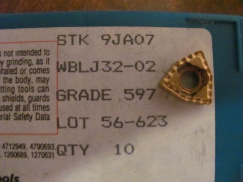 7 Ingersoll WBLJ 32-02 Grade 597 Carbide Inserts