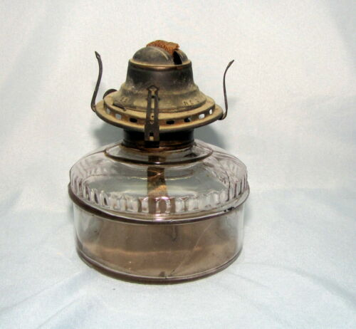 QUEEN ANNE No.2 Burner - Antique Vintage Oil Kerosene Glass Lamp Base