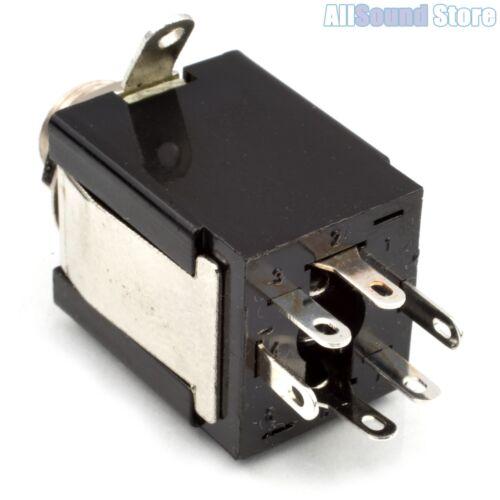 "Bass NICKEL NEW 7-Lug 1//4/"" Stereo Box Jack Enclosed Guitar"