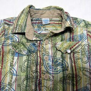 Infant-Hawaiian-Aloha-Shirt-Size-9M-Beach-Green-Floral-Surf-Board-Shirt