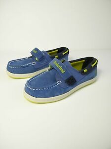 BOYS-CHILDS-TIMBERLAND-UK-11-EU-29-BLUE-SUEDE-TEXTILE-SMART-CASUAL-SHOES-KIDS