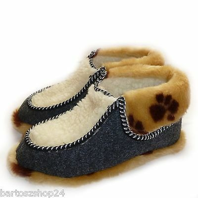 Las mujeres `s, señoras, Para Hombre, Invierno Zapatillas, pura lana ovina, Zapatillas Botas acogedor Pie