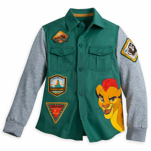 DISNEY Store SHIRT for Boys THE LION GUARD Woven w// Knit Sleeves Choose Size NWT