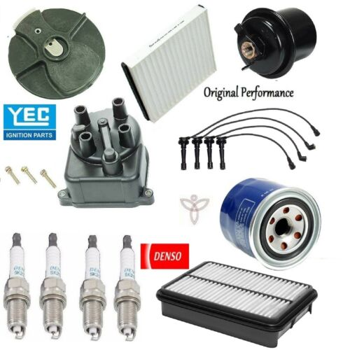 Tune Up Kit with Filters Cap Rotor Plugs Wire Set for Honda CR-V 2.0L 98-99 01