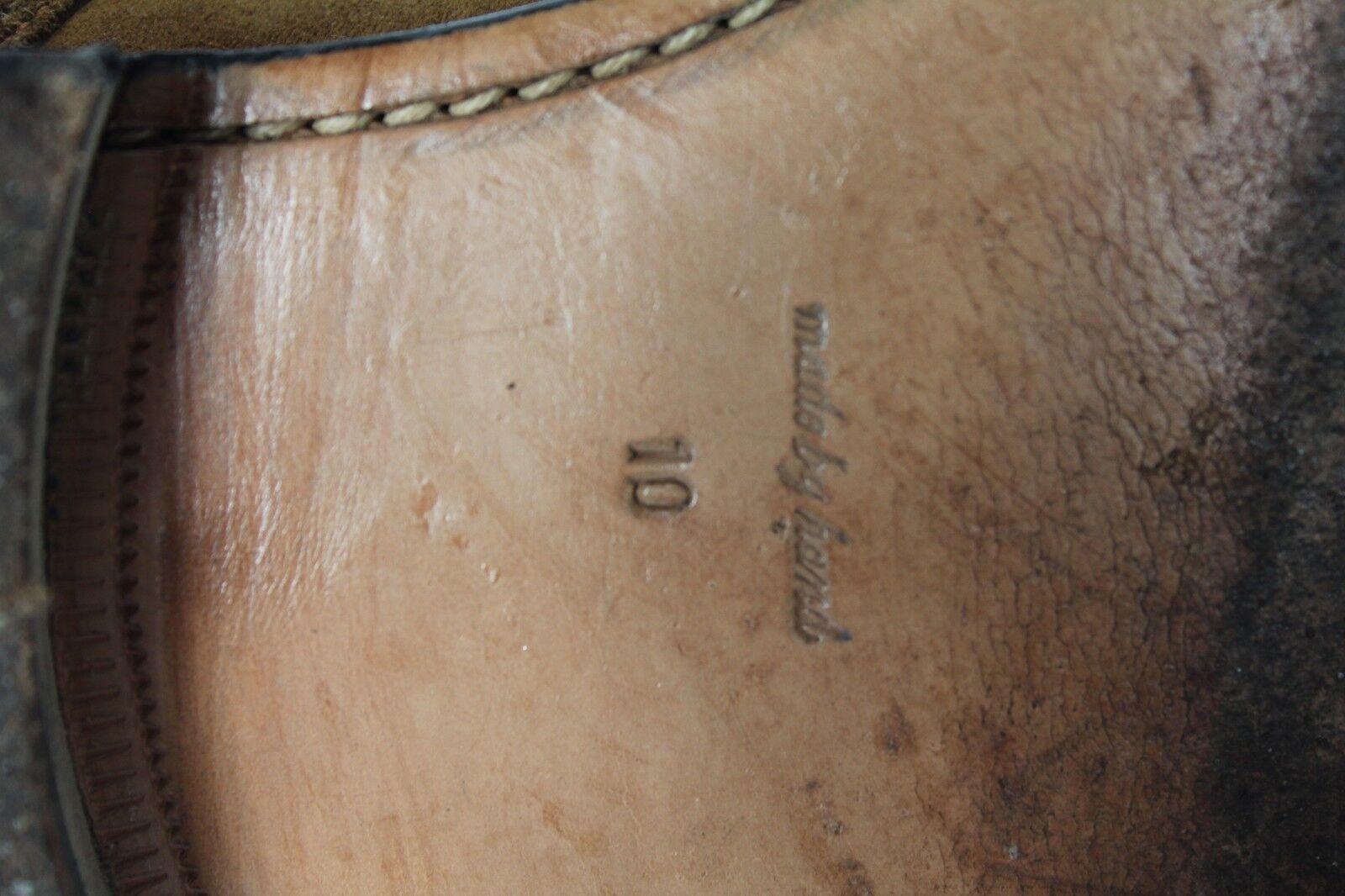 John Weiß England Elegante Budapesterschuhe Wildleder Brauntöne Brauntöne Brauntöne Eu 44,5-Uk 10  2d6f0d