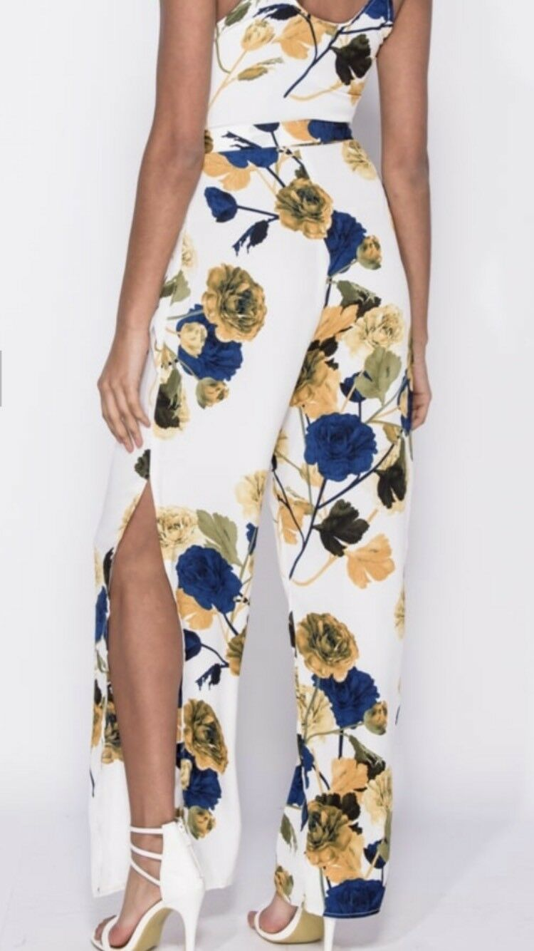 Ladies Floral Jumpsuit size 14