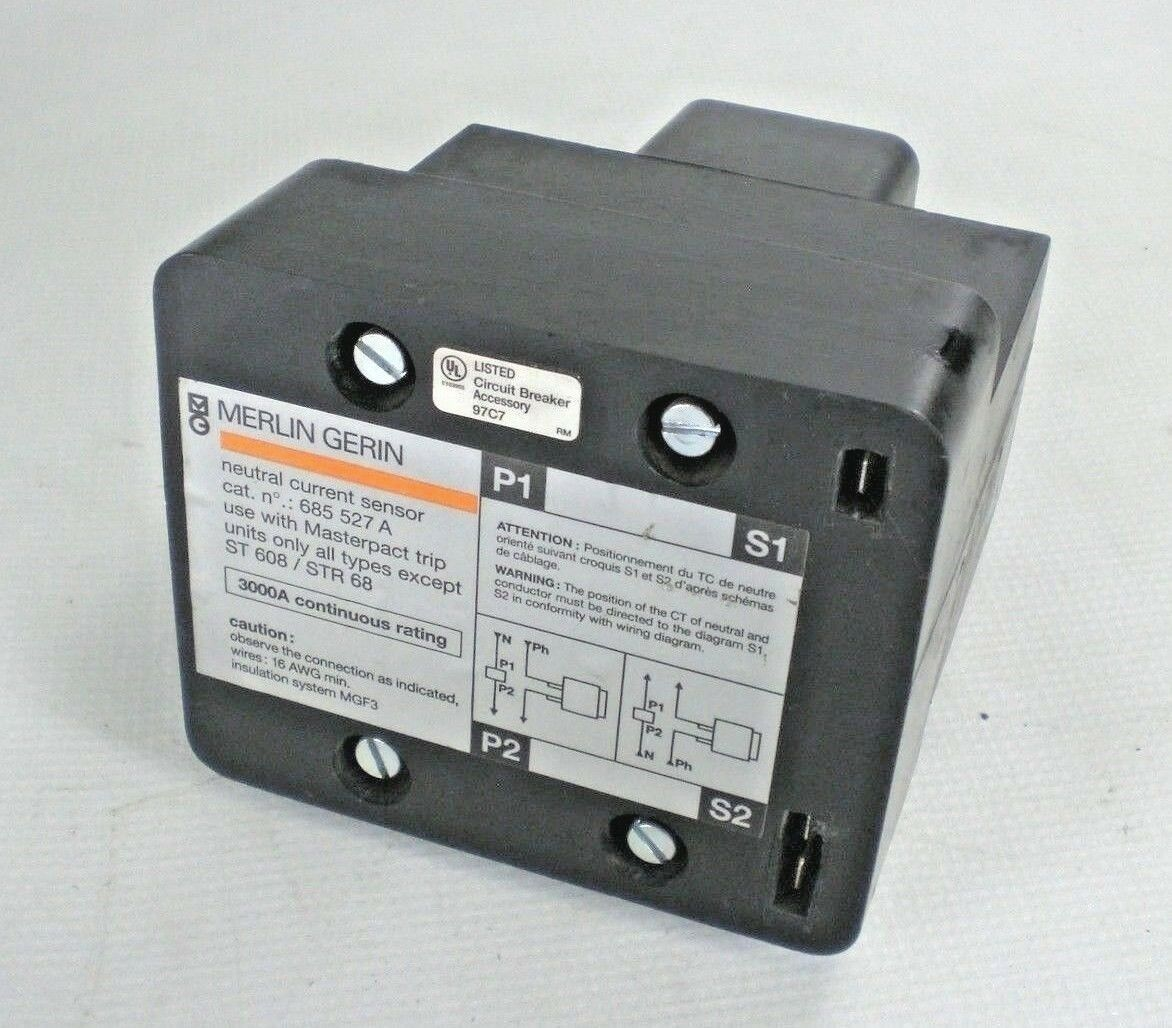 Merlin GERIN 685 527a Neutral Current Sensor 3000a Masterpact ... on square d multi 9, square d 100 amp panel template, square d sef, square d la, square d altivar, square d powerpact, square d powerlogic, square d electrical panel schedule template,