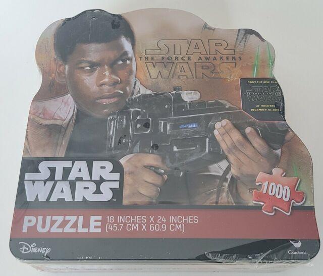 Star Wars 2015 Force Awakens Finn 1000 pcs Puzzle 18X24 Disney in Collector Tin