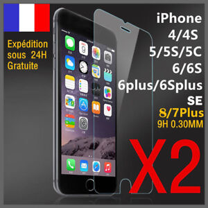 vitre-film-de-protection-ecran-verre-trempe-iPhone-SE-4-5-S-6-6S-7-8-Plus-Pack-2