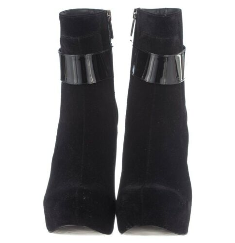 Shoes 43 Nero Mori Pearl Stiefel In Italy Boots Made Black Ankle Stivali Velvet WqrP7n0qcz