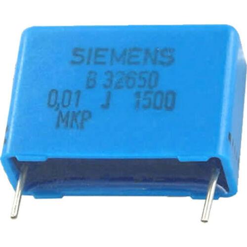 6 St DC RM-22,5 5/% NOS Siemens MKP Kondensator 10nF 0,01µF 1500V 1,5kV