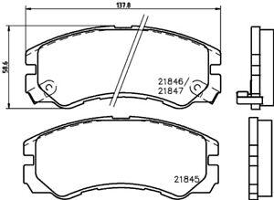NEUF Ford Galaxy Mk2 2.0 TDCI genuine COMLINE plaquettes de frein avant set