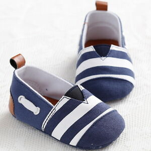 Pram-Newborn-Baby-Kids-Infant-First-Walkers-Striped-Classic-Boys-Shoes-Loafers