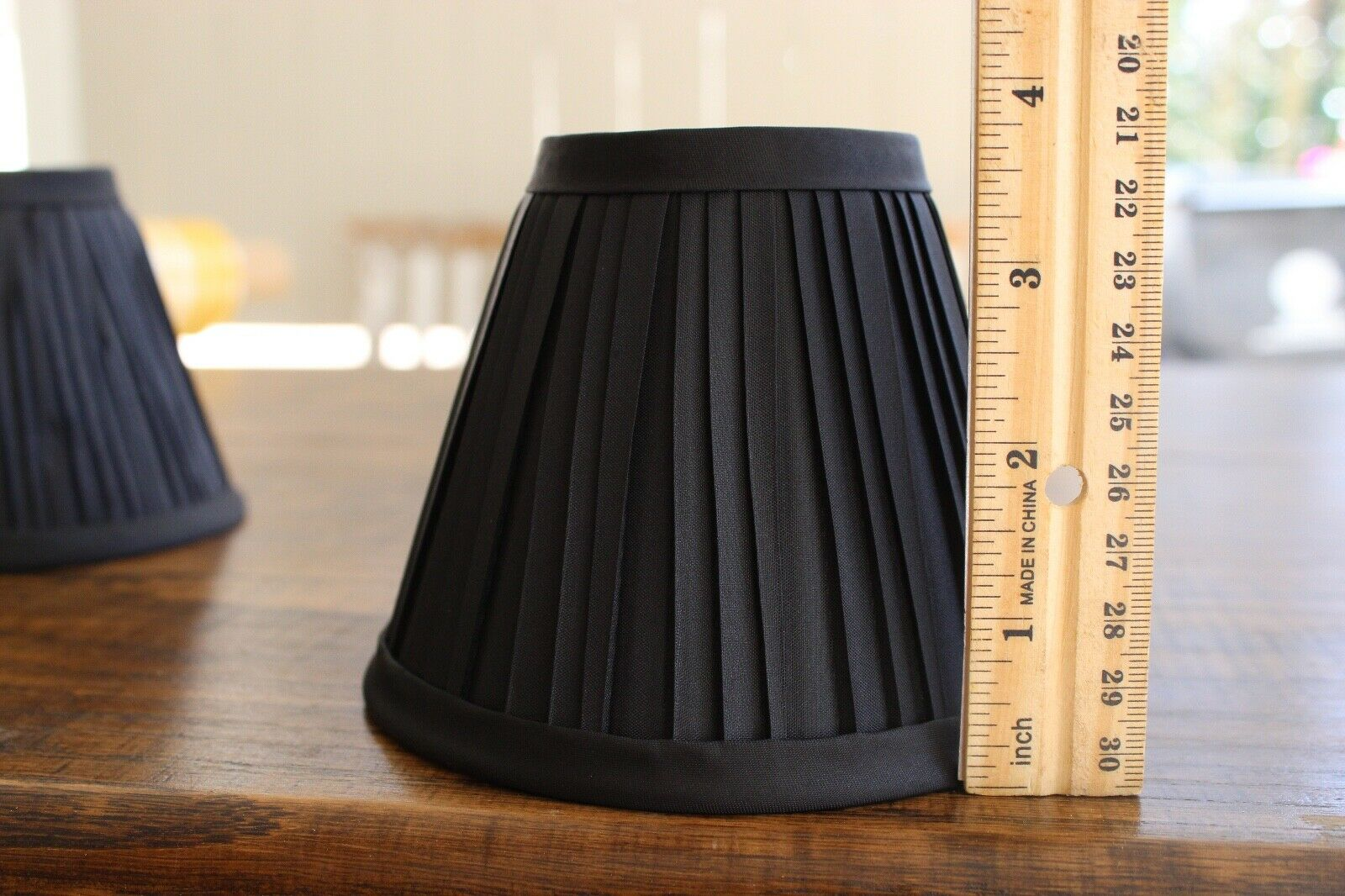 """New Lot of 3 Fabric Shade Small Black NWT 3.75/"""" x 4.75/"""" Lamp Chandelier Satin"""