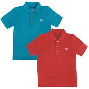 d5f306bf8 Image is loading Timberland-Short-Sleeve-Kids-Children-Boys-Cotton-Polo-