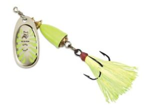 Vintage Blue Fox Vibrax 5//8 oz Green Body and Silver Blade Spinner Size 6 Lure