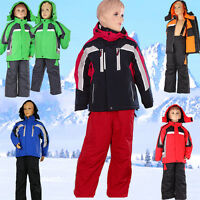 Schneeanzug Skianzug Skijacke Skihose Latzhose 2 Teile Gr.98 104 110 116 122 128