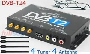 Automobile-Car-DVB-T2-DVBT-USB-HDMI-High-Speed-HD-TV-STB-4-Antenna-four-tuner