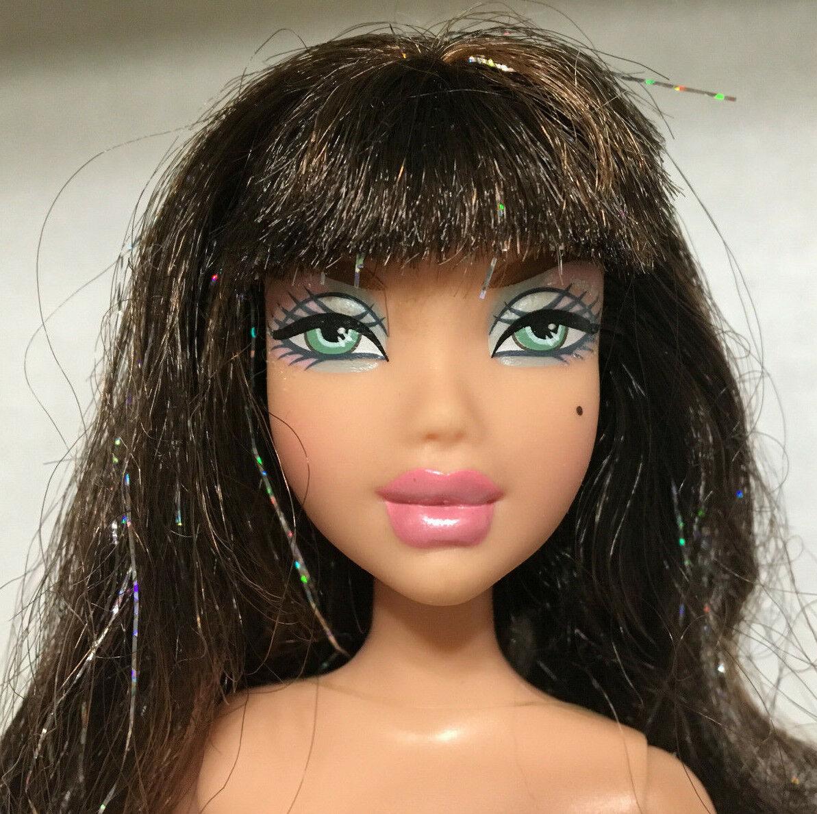 Barbie My Scene Icy Bling Delancey Doll Brunette Hair Rare