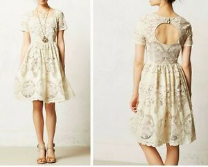 88b987080ba8 Image is loading Anthropologie-Ivoire-Dress-by-Tracy-Reese-Sz-2-