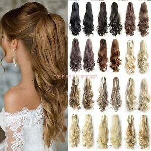 Thick-Ponytail-Clip-in-Hair-Extension-Claw-Pony-tail-Clip-on-Extensions-As-Real