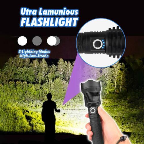90000 Lumens Flashlight Ultra-Luminous P70 USB Charging Strong Light LED 3 Modes
