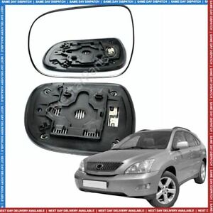 Left passenger side wing mirror heated glass for Lexus RX300 350 RX400h 03-08