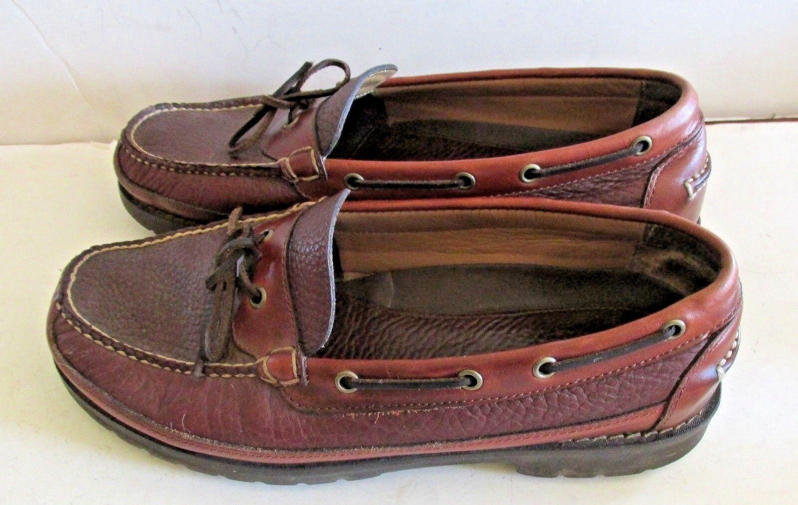 Men's LL Bean 10.5 EE EE EE WIDE Bison? Slip On Mocs Shoes fb2973
