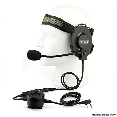 Tactical Headset Military Earpiece for Kenwood 2PIN Baofeng 888S Two way Radio | eBay