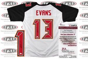 83cb26021 Mike Evans Signed Custom Pro Style Jersey JSA Witnessed Tampa Bay ...