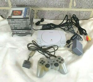 Retro Sony PSone Consola bulto-trabajo-Playstation-PS1 Juegos-Controlador