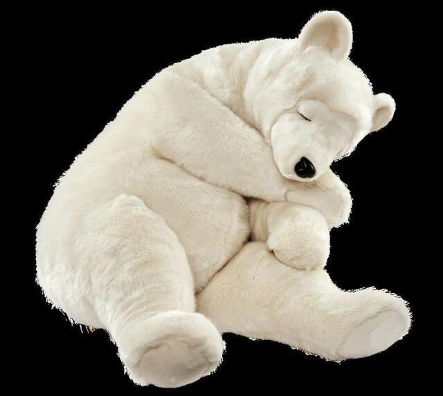 Hansa Toy 5030 Ours Polaire Dormant 75 cm Animal à Câliner en Peluche