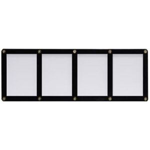 ULTRA-PRO-BLACK-FRAME-4-CARD-SCREWDOWN-HOLDER-New-4-Screw-Clear-Storage-Display