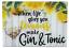 25cm-Small-Glass-Chopping-Board-Worktop-Saver-Gin-amp-Tonic-Yellow-Design thumbnail 1