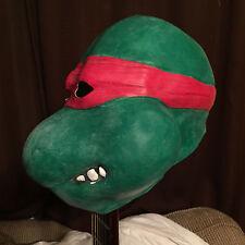 Vintage 1989 Teenage Mutant Ninja Turtles Raphael Costume Rubber Mask Mirage FS