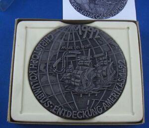 Methodical Buderus Plakette Eisen Eisenguss Eisenkunstguss Kolumbus 1992 Ovp Delaying Senility Gefertigt Nach 1945
