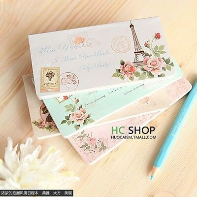 Classical Romantic Paper Stationery Notes Book Agenda Schedule Planner Notebook