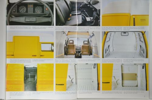 VW Volkswagen Bus Transporter t3 Doka Syncro Pick-up prospectus 01//1986 données