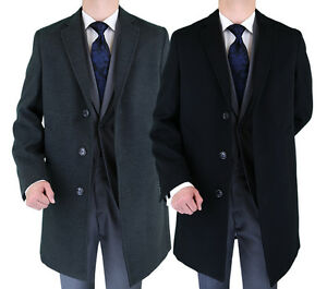 Luciano-Natazzi-Made-in-Italy-Stretch-Coat-Modern-Fit-Mens-Overcoat-Wool-Blend
