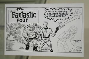 MARVEL-COMICS-FANTASTIC-FOUR-1-JACK-KIRBY-HIDDEN-GEM-SKETCH-B-amp-W-VARIANT