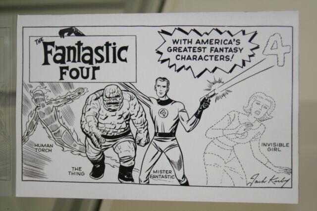 MARVEL COMICS FANTASTIC FOUR #1 JACK KIRBY HIDDEN GEM SKETCH B&W VARIANT