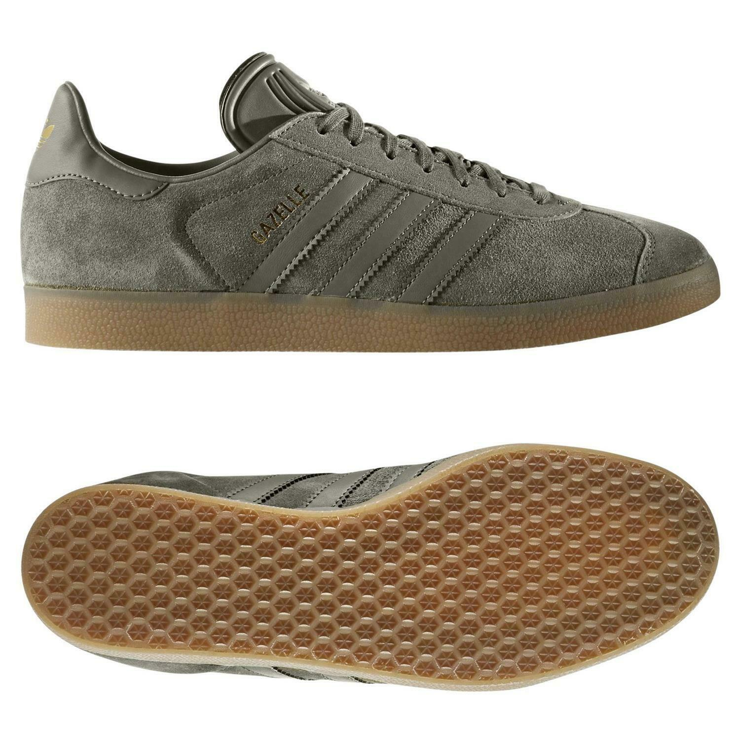 Adidas originals mens gazelle gris trainers zapatos casual football