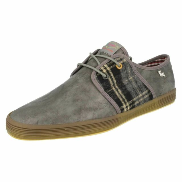 Base London Spam 2 Peces N Chips Hombre Grano / Manta Zapatos Grises (R19a)