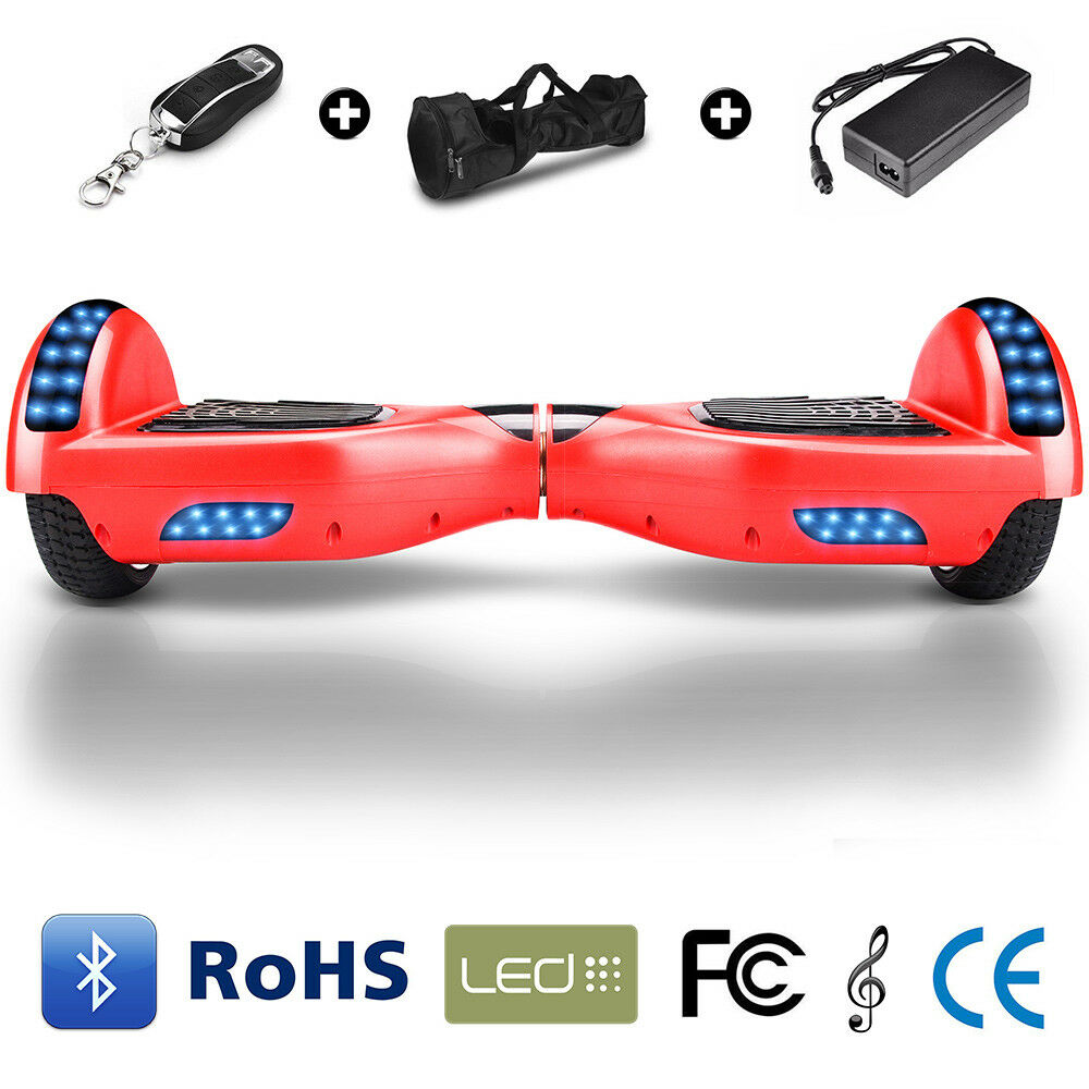 8 inches Blautooth Self Balancing Skateboard Electric Scooter LED+Remote Control Control Control da1fd1