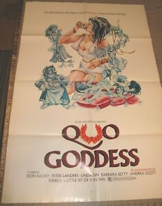 """1973 QUO GODDESS Erotic Comedy 27"""" x 41"""" One-Sheet Movie Theater Poster Good+"""
