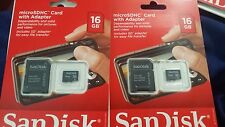 New 16 GB SanDisk Micro SDHC Card with Adapter