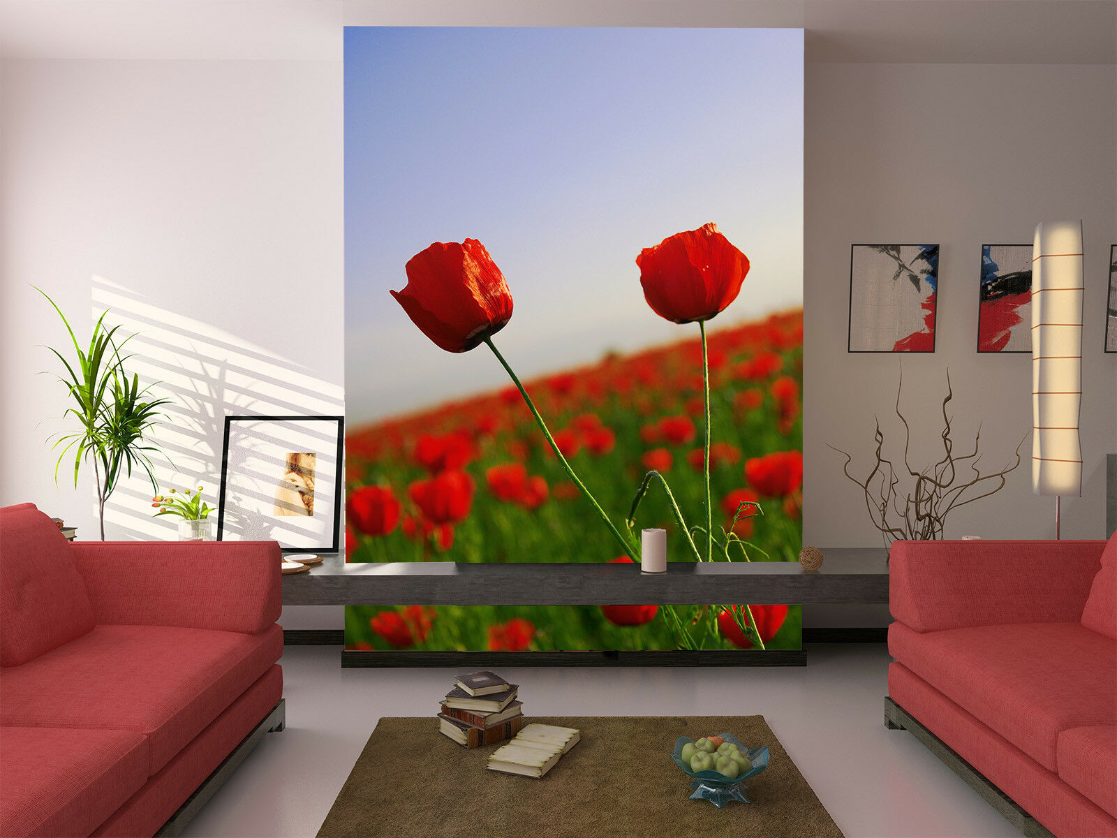 3D Red pinks Farm 74 Wall Paper Murals Wall Print Wall Wallpaper Mural AU  Kyra