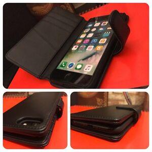Apple-iPhone-7-Genuine-Saffiano-Pro-Leather-Wallet-Executive-Book-Case-Black